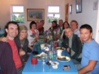 Yoga group dining at Fishermans Cottage Inisheer Aran Islands near the Burren
